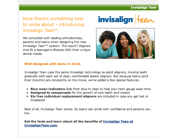 Invisalign teen - Lake Family Dentristy - Lake of the Ozark